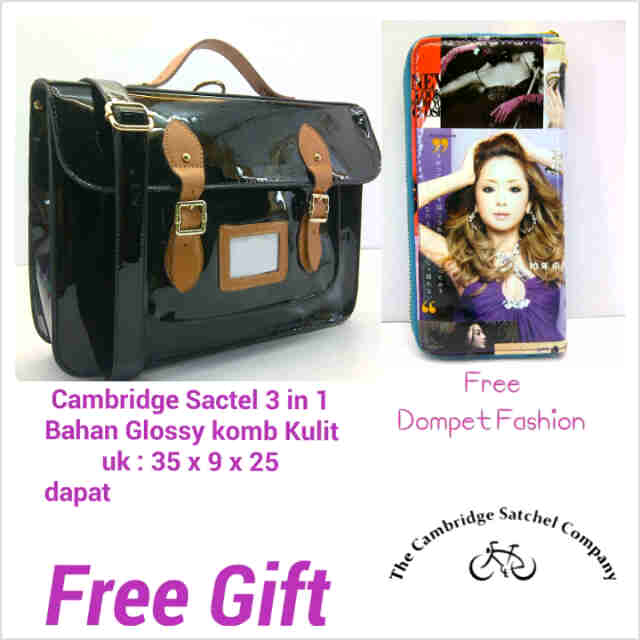Free Gift SALE CS 3 in 1 Glossy Kombi Kulit warna Hitam @290rb