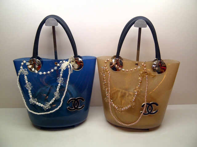 Tas Channel Syal 116 Semi Super (kode CHA012) Biru-Gold