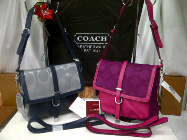 Tas Coach 8034 Super (kode COA055) Grey-Burgundy