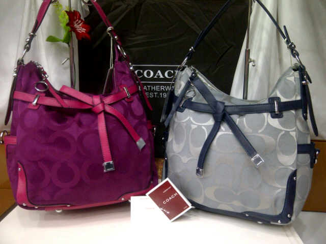 Tas Coach 8036 Super (kode COA057) Burgundy-Grey