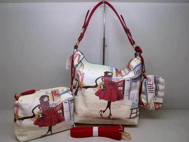 Tas Fashion 7077 3in1 (kode FAS014) Motif 2