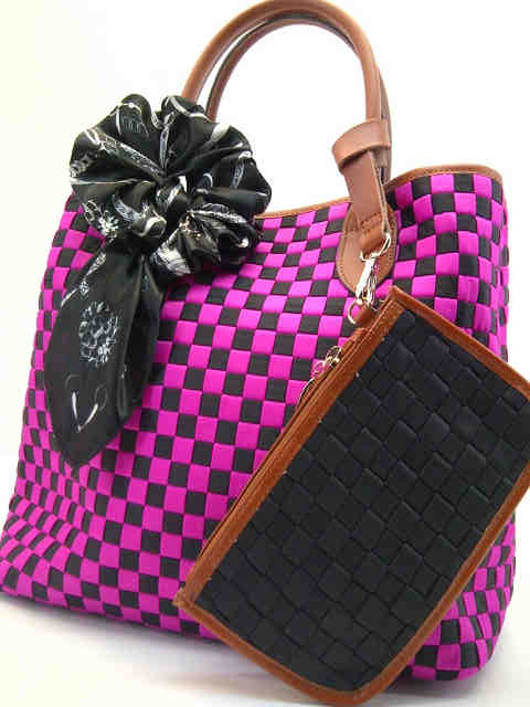 Tas Fashion Dolly 2 Tones Super (kode FAS012) Hitam Fuschia