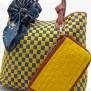 Tas Fashion Dolly 2 Tones Super (kode FAS012) Kuning Biru
