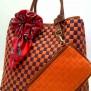 Tas Fashion Dolly 2 Tones Super (kode FAS012) Orange Ungu
