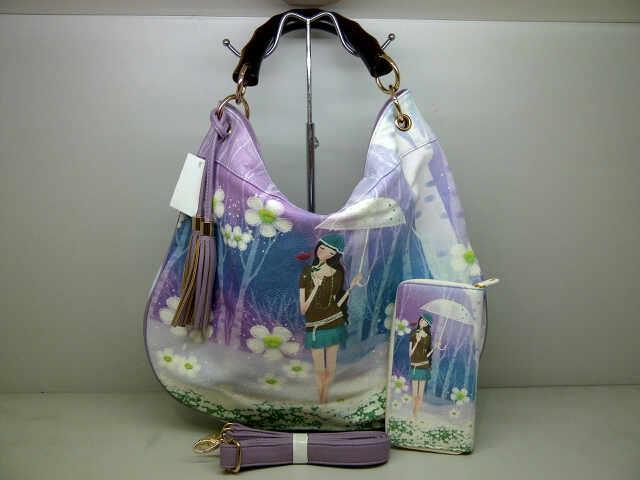 Tas Fashion Kayu 9819 Set (kode FAS009) Motif 6