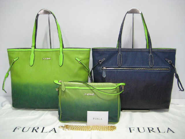 Tas Furla Bolak Balik Gradasi 2in1 928186 (kode FUR026) Light Green-Deep Blue