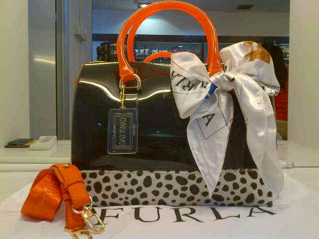 Tas Furla Candy Jelly Dalmation Semi Original (kode FUR025) Orange