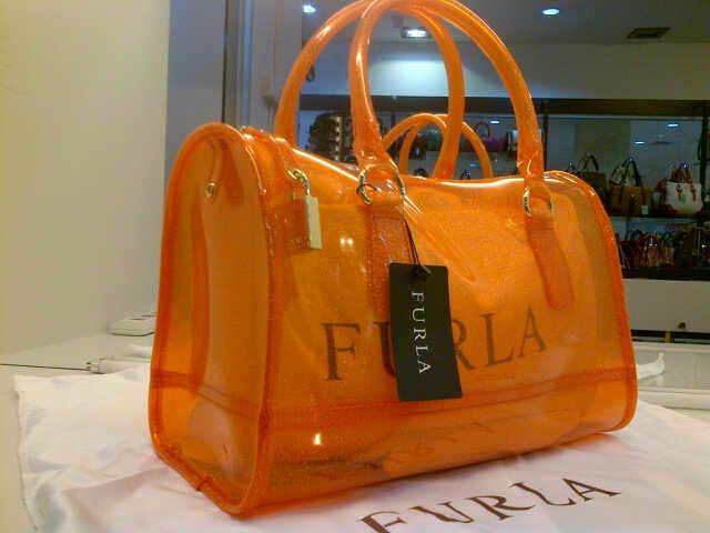Tas Furla Glitter Transparant Premium (kode FUR021) Orange