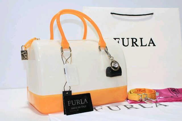 Tas Furla Speedy Semi Original 2 Tone (kode FUR039) Putih Kuning