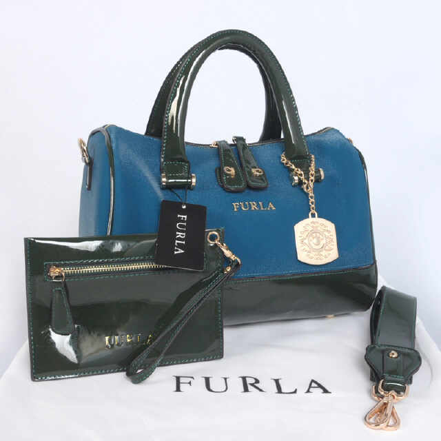 Tas Furla Tube Glitter Set Super (kode FUR049) Biru
