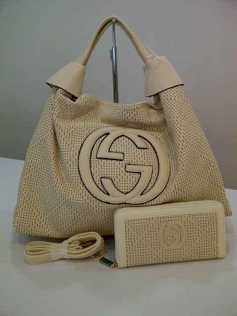 Tas Gucci Laser Ayu Tingting Set 253 (kode GUC017) Putih