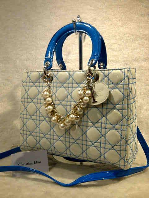 Tas Jinjing Christian Dior 281A Semi Super (kode CD003) Blue White