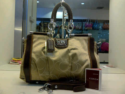 Tas Tangan Coach Small Super (kode COA001) Almond