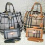 Tas Burberry KD 100087 Set Semi Super (kode BUR017) Black-Yellow Brown