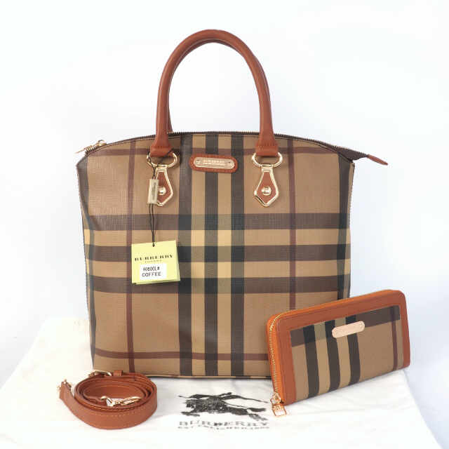 Tas Burberry Lockit Set Semi Super (kode BUR024) Coffee Brown