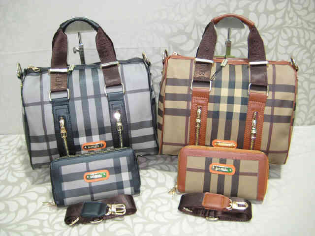 Tas Burberry Speedy 100080 Set Semi Super (kode BUR018) Black Coffee
