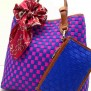 Tas Fashion Dolly 2 Tones Super (kode FAS012) Biru Fuschia