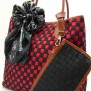 Tas Fashion Dolly 2 Tones Super (kode FAS012) Hitam Merah