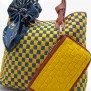 Tas Fashion Dolly 2 Tones Super (kode FAS012) Kuning Biru