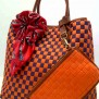 Tas Fashion Dolly 2 Tones Super (kode FAS012) Orange Ungu