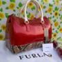 Tas Furla 3 Tones Semi Premium (kode FUR015) Merah Motif Snake