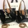 Tas Furla Bellevue 2in1 Semi Premium (kode FUR033) Hitam