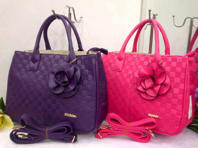 Tas Furla Fashion 807-1 (kode FUR048) Ungu-Pink