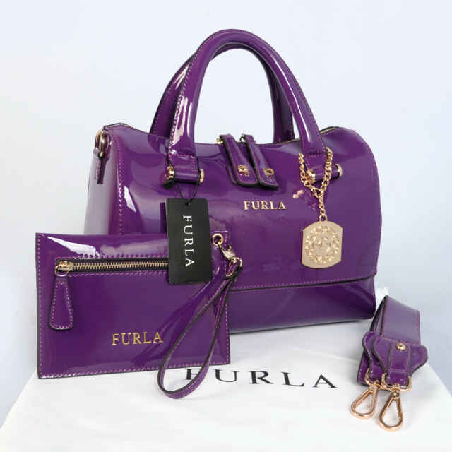 Tas Furla Tube Glossy Set Super (kode FUR043) Ungu