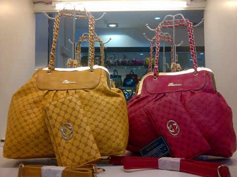 Tas Gucci Keong Set (kode GUC019) Kuning Merah