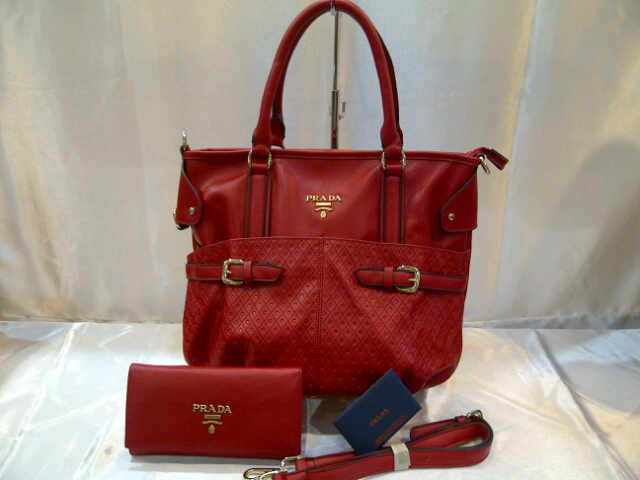 Tas Prada 151 Set Semi Super (kode PRA033) Merah